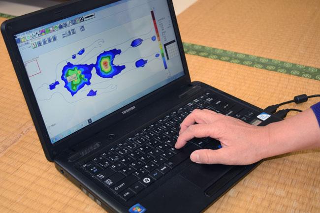 測定パソコン画面